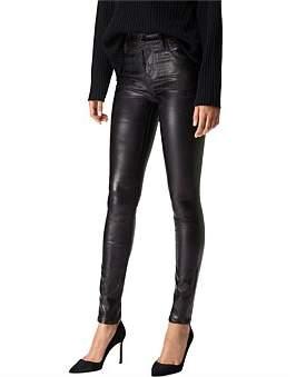 J Brand Maria High Rise Coated Stretch Jean