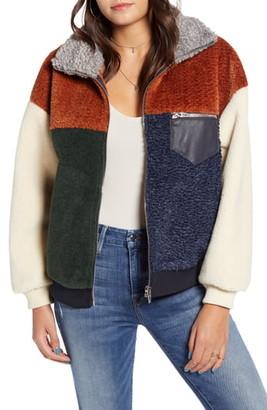 Blank NYC BLANKNYC Colorblock Faux Fur Jacket
