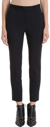 RED Valentino Black Virgin Wool Blend Ankle-length Dress Pants