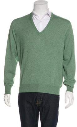 Loro Piana Cashmere & Silk V-Neck Sweater w/ Tags