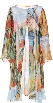 Agua de Coco Printed Sheer Kimono