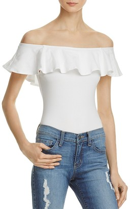 Mustard Seed Ruffled Off-the-Shoulder Bodysuit $48 thestylecure.com