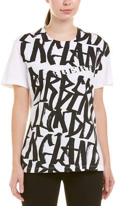 Burberry Graffiti Print Cotton T-Shirt