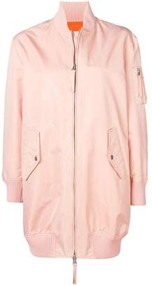 RED Valentino Love You longline bomber jacket