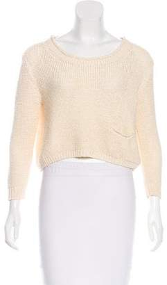 3.1 Phillip Lim Open Knit Cropped Sweater