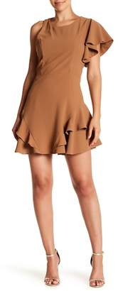 J.o.a. Ruffled One Shoulder Mini Dress