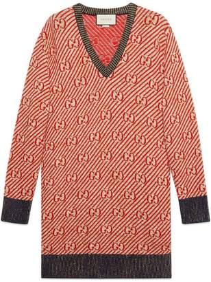 Gucci Oversized GG stripe wool sweater