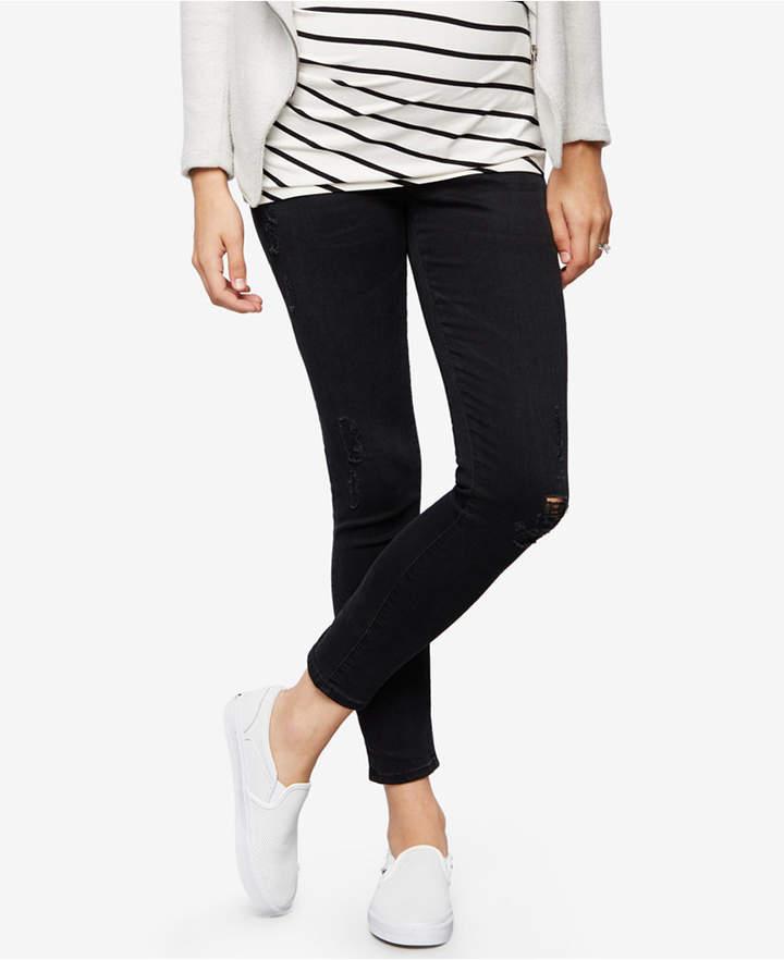 AG JeansAG Jeans Maternity Black Wash Skinny Jeans