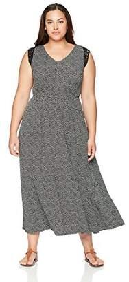 Gabby Skye Women's Plus Size Short Sleeve Maxi Dress