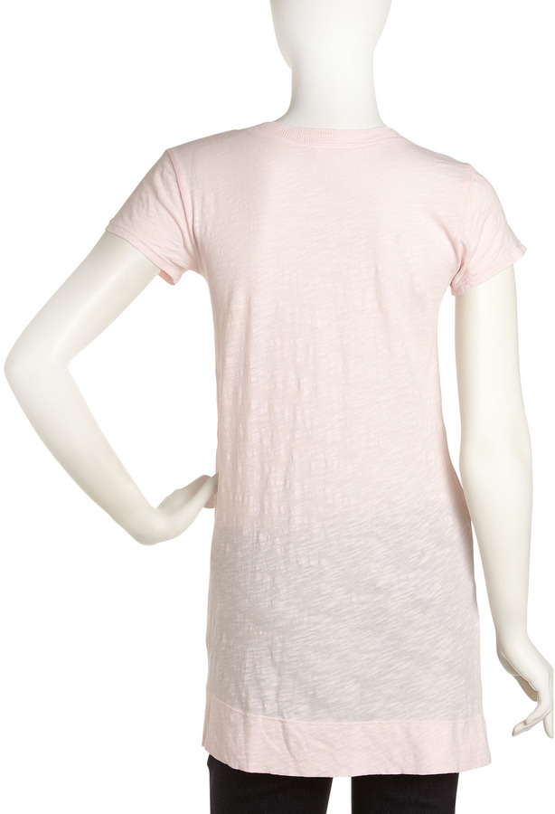 Wilt Raw-Edge Slouch Top, Baby Pink