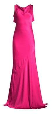 Rachel Zoe Ami Cowlneck Sleeveless A-Line Gown