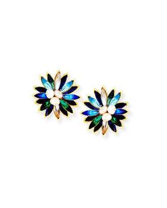 Sequin Marquis Crystal Clip-On Earrings