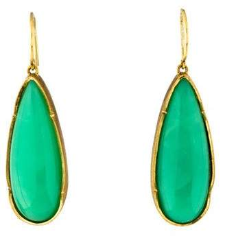 Irene Neuwirth 18K Chrysoprase Drop Earrings