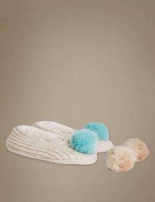 Marks and Spencer Pom Ballet Slipper Socks