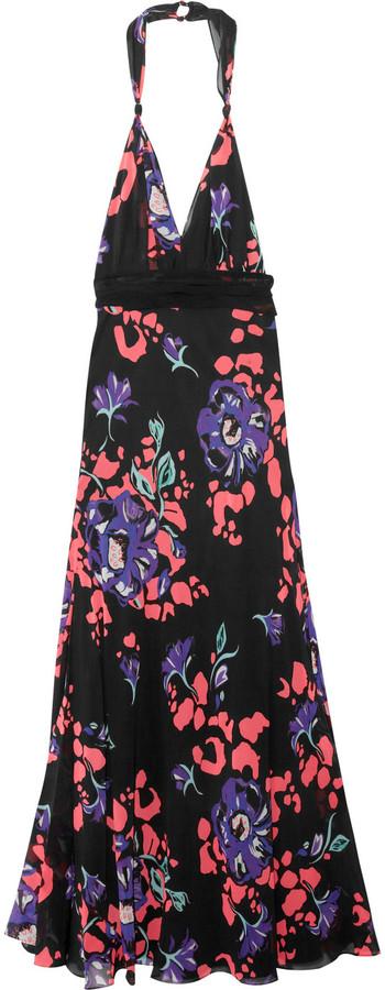 Temperley London Falcon printed silk-georgette maxi dress