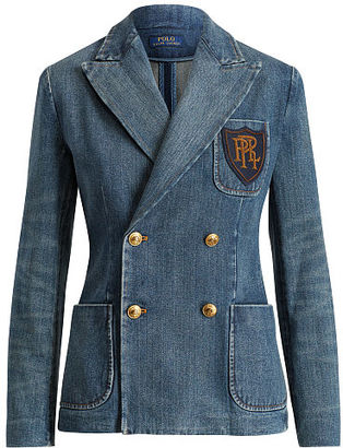 Polo Ralph Lauren Double-Breasted Denim Blazer $498 thestylecure.com