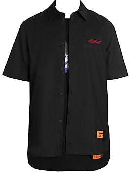 Heron Preston Men's Logo Short-Sleeve Shirt