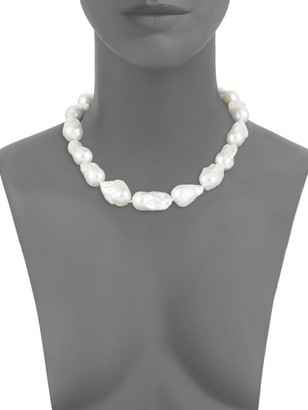 Tara Pearls Sterling Silver & 16-17MM White Baroque Freshwater Pearl Necklace