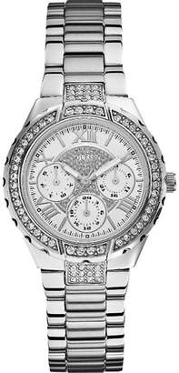 GUESS W0111L1 Viva silver-toned stainless steel watch
