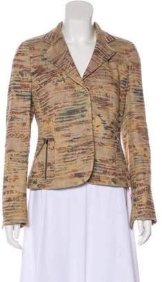 Akris Punto Paneled Patterned Jacket