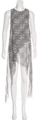 Thomas Wylde Sleeveless Asymmetrical Dress