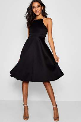 boohoo Midi Skater Dress
