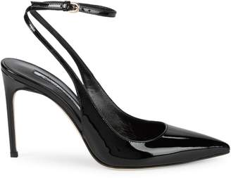 Brian Atwood Vicky Patent Leather Slingbacks