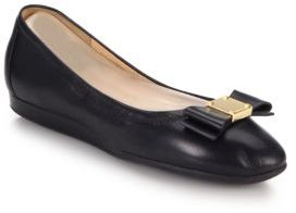 Cole Haan Tali Bow Leather Flats $170 thestylecure.com