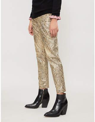 MiH Jeans X Bay Garnett Golborne Road Vintage snake-print woven trousers