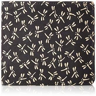 Aries [アリエス] 日本製印伝二つ折り財布 1214-93 BK/WH 黒×白とんぼ