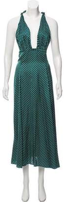 ALEXACHUNG Polka Dot Midi Dress w/ Tags