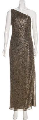Laundry by Shelli Segal One-Shoulder Metallic Dress