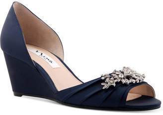 Nina Emiko Embellished Evening Wedges Women's Shoes