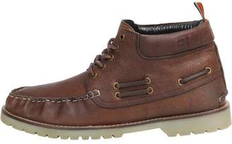 Mens Brad Boat Boots Brown Leather