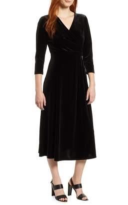 Chaus Velvet Wrap Style Dress