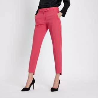 River Island Womens Pink step hem cigarette pants