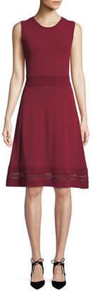 MICHAEL Michael Kors Ottoman Texture A-Line Dress
