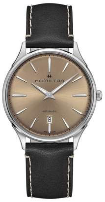 Hamilton Jazzmaster Thinline Automatic Leather Strap Watch, 40mm