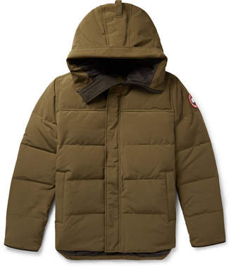 Canada Goose Macmillan Quilted Shell Hooded Down Parka - Army green