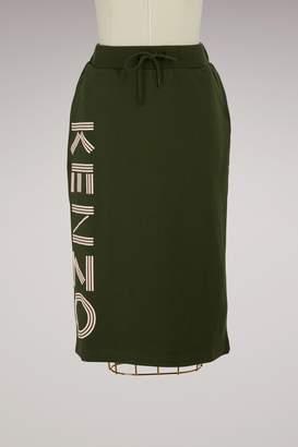 Kenzo Cotton Paris Midi Skirt