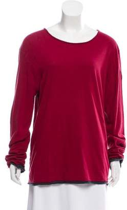 Zadig & Voltaire Long Sleeve Raw-Edge-Trimmed T-Shirt