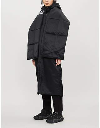 adidas 3-Stripes logo-print shell-down jacket