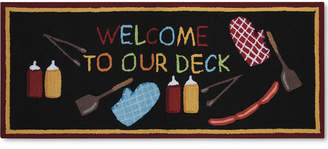 """Nourison Welcome to Our Deck 1'10"""" x 4'6"""" Doormat Bedding"""