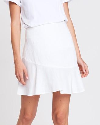 4b9281d3072e White Linen Mini Skirt - ShopStyle Australia