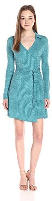 Juicy Couture Black Label Women's Knit Jersey Amore Geo Wrap Dress $228 thestylecure.com