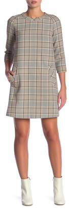 Paul & Joe Sister 3\u002F4 Sleeve Plaid Print Dress