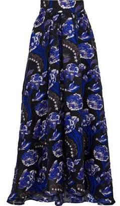 Temperley London Flared Metallic Brocade Maxi Skirt