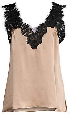 CAMI NYC Women's Leia Lace Silk Cami