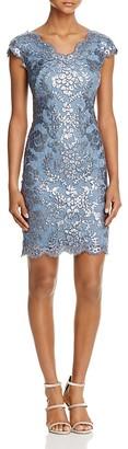 Tadashi Shoji Petites Sequin Lace Sheath Dress $328 thestylecure.com