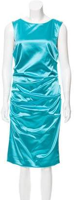 Nicole Miller Ruched Satin Dress w/ Tags